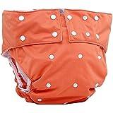 lukloy–Camiseta de adultos pañales de tela con inserto de 1pc para cuidado de incontinencia–Dual Apertura bolsillo lavable ajustable reutilizable antigoteo para pañales
