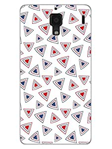 RedMi 1S Back Cover - Ethnic Triangular Pattern - Colorful - Abstract - Designer Printed Hard Shell Case