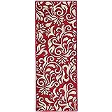 GuoWei Alfombra Polipropileno Moderno para Cocina Felpudo Vestíbulo Ingreso Dormitorio Antideslizante Resistente A Las Manchas, 4 Colores (Color : Rojo, Tamaño : 45x180cm)