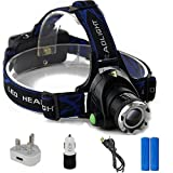 Asvert Zoomable 4 Modes Super Bright LED Headlamp - Best Reviews Guide