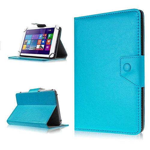 NAUC Tasche Hülle für ODYS Ieos Quad 10 Pro Schutzhülle Tablet Cover Case Bag Etui, Modellauswahl:Türkis mit Magnetverschluss
