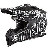 O'Neal 2Series Rider Kinder Motocross MX Helm Gelände Enduro Quad Cross Motorrad Schwarz, 0200, Größe M