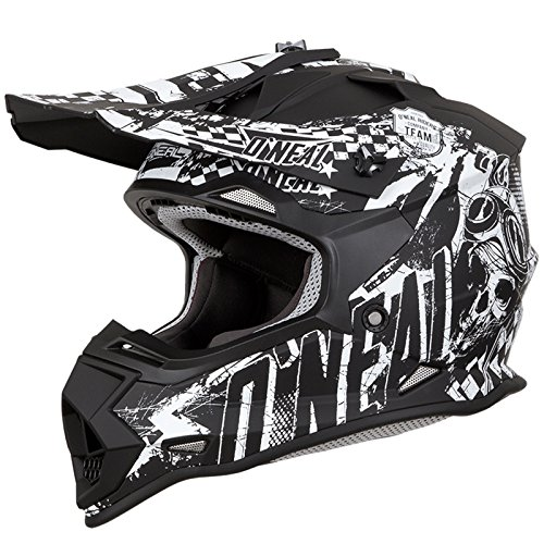 O'Neal 2Series Rider Kinder Motocross MX Helm Gelände Enduro Quad Cross Motorrad Schwarz, 0200, Größe L (Helm Nasenschutz Motorrad)