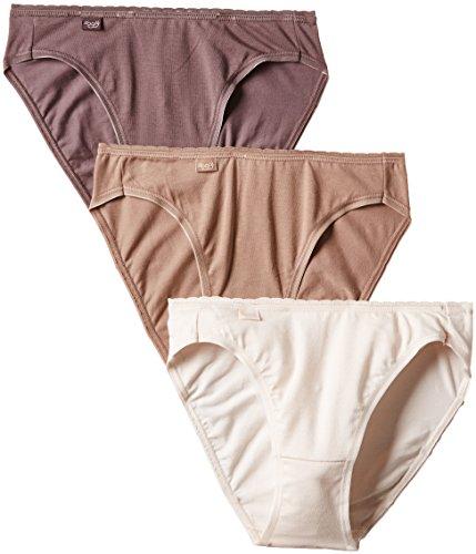 Sloggi Damen Slip, Uni Gr. 40, Mehrfarbig - Mehrfarbig (Praline/Beige/Rose Poudré) - Beige Praline