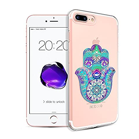 iPhone 7 Plus Case ?Kingxbar Crystals from SWAROVSKI Element Clear Design Printed Transparent Soft Flexible TPU Protective Back Phone Cover for Apple iPhone 7 Plus (5.5
