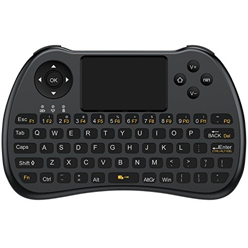 Aerb Kabellose 2.4 GHz Mini-Tastatur mit Touchpad f¨¹r PC, Pad, Xbox 360, PS3, Google Android TV Box, HTPC/IPTV ¨C Schwarz