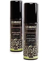 LEABAGS AVOCADO Lotion Premium Lederpflege 75 ml -2er Pack