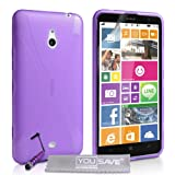 Yousave Accessories®-Cover in Silicone con penna Mini stilo per Nokia Lumia 1320, colore: viola