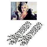 DeVille Cruella, Punktemuster, lang, Dalmatiner-Kostüm