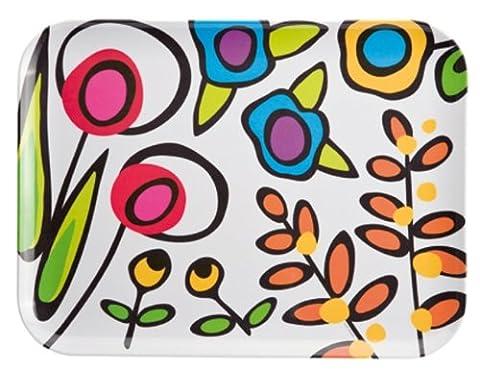Zak Designs 6109-0010 Tray with Pop / Wild Flora (Design Vassoio)