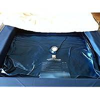 Einzelne Mesamoll2® Wasserbettmatratze 90x200 cm Wasserkern Wassermatratze für DUAL Softside Wasserbett, Außenkante Schaumstoff 180x200 cm (F2 50% Beruhigung)