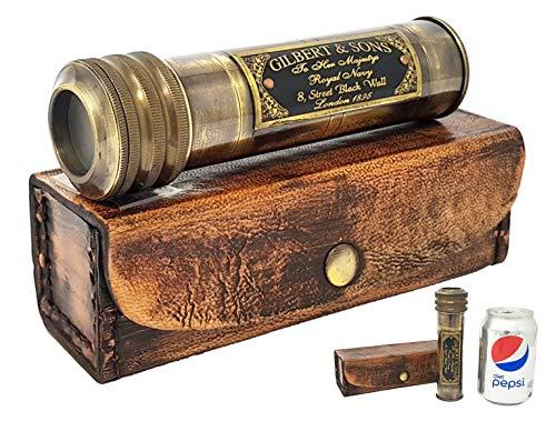 Vintage pirata telescopio réplica-18cm-latón