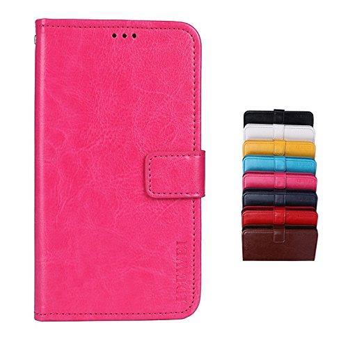 SHIEID® LG Q Stylus Brieftasche Hülle PU+TPU Kunstleder Handyfall für LG Q Stylus mit Stand Funktion EIN Stent-Funktion (Rose rot)