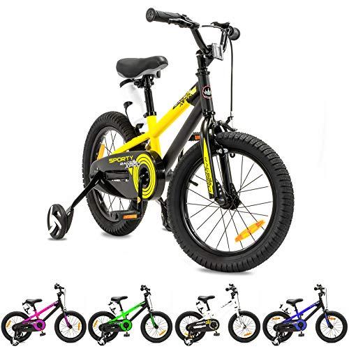 NB PARTS - Bicicleta Infantil para niños y niñas, BMX, a Partir de 3 años, 12 Pulgadas / 16 Pulgadas, Color Amarillo Mate de 16 Pulgadas, tamaño 16
