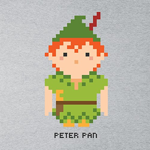 Peter Pan Pixel Character Men's Vest Heather Grey