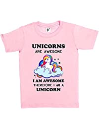 Fancy A Snuggle Unicorns Are Awesome & So Am I Therefore I'm A Unicorn Kids Girls T-Shirt