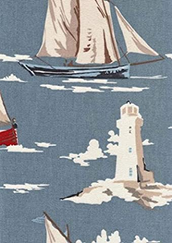 Oilcloth Tablecloth PVC Tablecloth : 1353 SKIPPER MARINE 134 x 230cm gloss