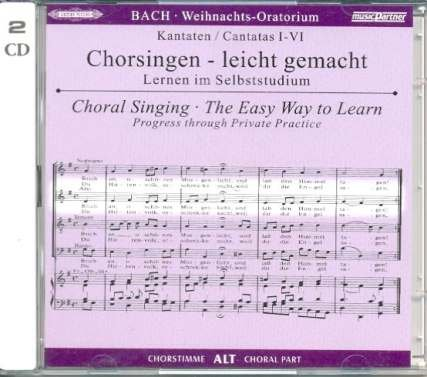 WEIHNACHTSORATORIUM BWV 248 - arrangiert für mit 2 CD´s - AUSZUG (Klavier-Auszug o. ä.) - (Gemischter Chor) [Noten / Sheetmusic] Komponist: BACH JOHANN SEBASTIAN aus der Reihe: CHORSINGEN LEICHT GEMACHT