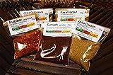 Afrika Gewürze Schnupperset -3, Ras el Hanout, Sumach gemahlen, Afrika Chicken, Pulbiber extra scharf, Afrikanisches Grillgewürz