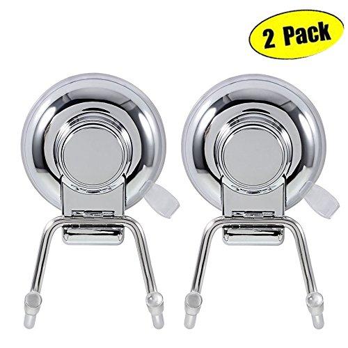 Gancho Baño ARCCI cesta de la ducha de acero inoxidable estante para ducha con fijación ventosa rotación & Lock