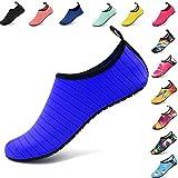 AGOLOD Unisexe Chaussures d'eau Chaussures de Plage Sport Aquatique Nager Surf Yoga Chaussettes pour Hommes Dame