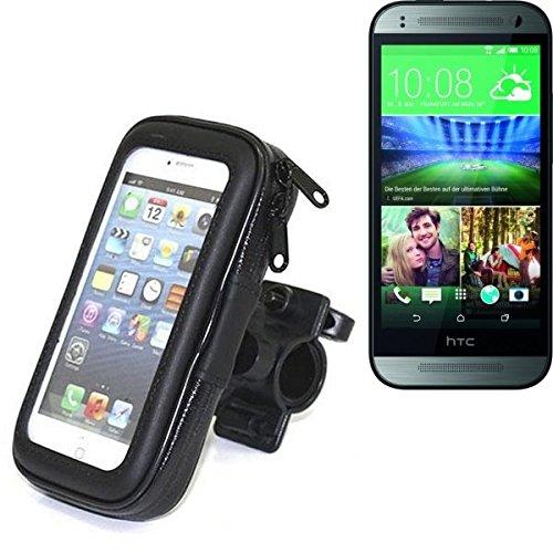 Für HTC One mini 2 Fahrrad Halterung Handy Halterung Lenkstange Fahrrad Halter Motorrad Bike mount Smartphone Halter für HTC One mini 2 Wasserabweisend, regensicher, spritzwasserdicht - K-S-Trade(TM)