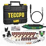 Multifunktionswerkzeug, TECCPO 10000-35000 RPM 135W Drehwerkzeug, mit 114 Zubehörteilen, Mini-Bohrer mit 5 variablen Drehzahlen, ideal zum Gravieren, Schneiden, Polieren, Schleifen-TART11P