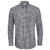 Almsach Herren Trachten-Mode Trachtenhemd Nick Regular Fit in Schwarz inkl. Volksfestfinder traditionell, Größe:M, Farbe:Schwarz