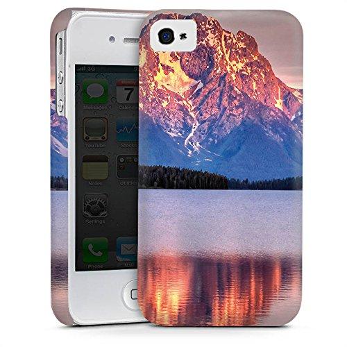 Apple iPhone 5s Housse Étui Protection Coque Paysage alpin Lac Forêt Cas Premium mat