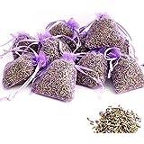 OLILLY Récolte 2019-12 Sachets Violets avec Lavande de Provence - 120 grammes de Lavande Naturelle (Violet, 12 Sachets)