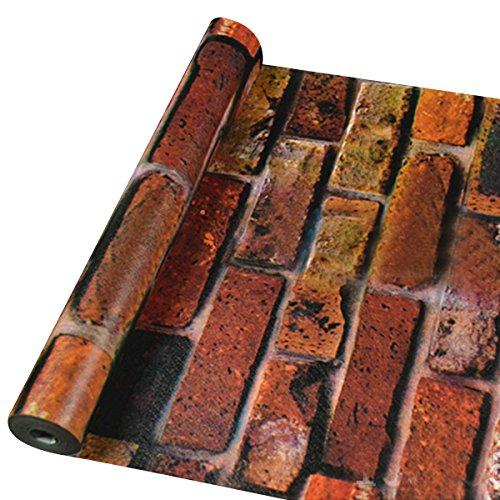 Granit Grau Tür (UNIQUEBELLA 3D Steinoptik Tapeten Wanddeko Design Tapete Wandtapete Wand Dekoration für Wohnzimmer Kinderzimmer Schlafzimmer Küchen Hotel Rot)