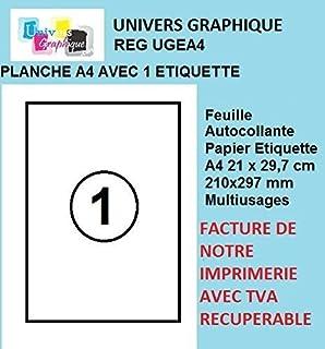 50 Feuilles A4 Papier Adhesif Blanc
