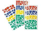 Apli 00706 - Bolsa de 20 hojas de gomets de figuras variadas