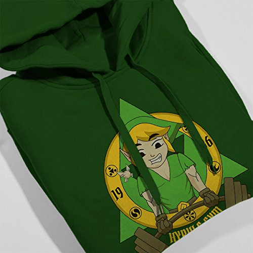 Legend Of Zelda Link Hyrule Gym Women's Hooded Sweatshirt Bottle Green