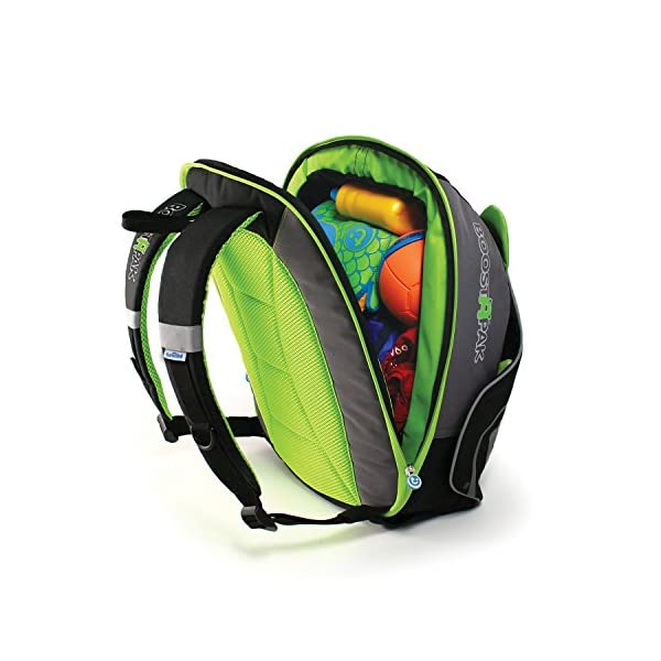 Trunki BoostApak - Travel Backpack & Child Car Booster Seat for Group 2-3 (Green)  QUICKLY TRANSFORMS – Kid's bag to portable booster cushion in seconds (featuring internal hard shell and fold out seatbelt guides) AVOID HIRE CHARGES - On fly drive holidays! Can also be used as dining, cinema or stadium booster to see the action HAND LUGGAGE - 8-litre capacity for packing toys/games/stationary keeping children entertained on the go 7