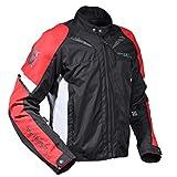 MagiDeal 1x Rüstungsjacke mit Schutzpolster, Fahrer Schutz Zubehör für Motorcross Rennen - Rot+Schwarz, XXL