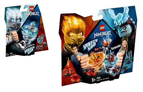 Steinchenwelt Lego Ninjago 2er Set: 70683 Spinjitzu Slam - Zane + 70684 Spinjitzu Slam - Kai vs. EIS-Samurai (Ziel Von Lego Ninjago)