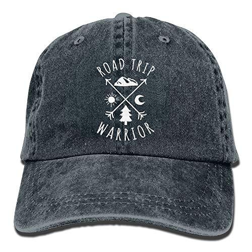 deyhfef Road Trip Warrior Washed Retro Einstellbare Cowboyhut Gym Caps ForAdult (Road Trip Kostüm)
