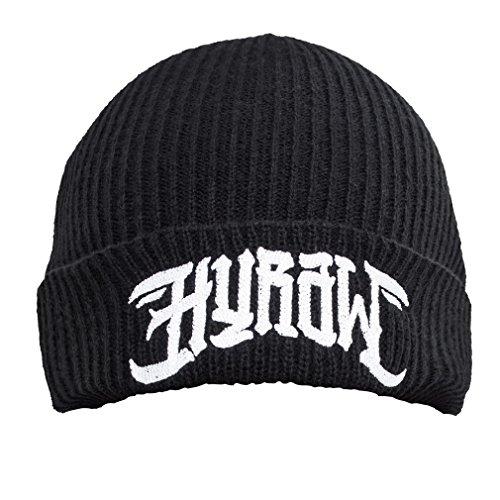 Hyraw -  Berretto in maglia  - Uomo nero Taglia unica