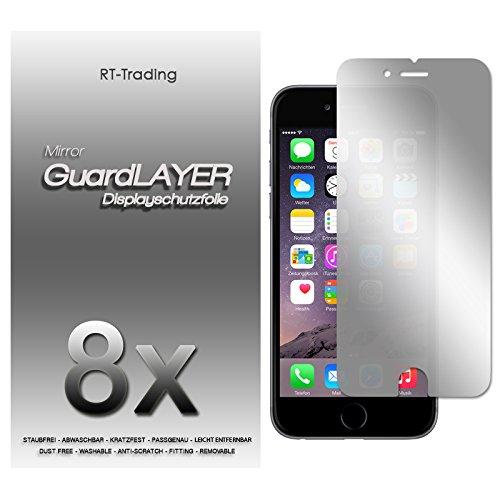 8x Apple iPhone 6 Plus - Spiegelfolie Display Schutzfolie Folie Schutz Mirror Screen Protector Displayfolie - RT-Trading