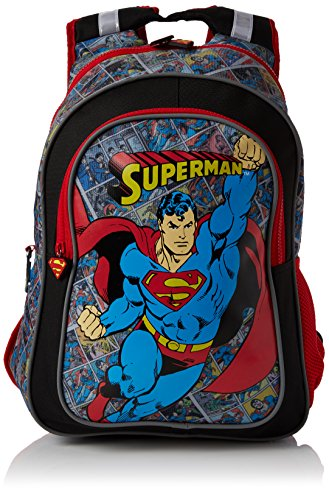 BB-Designs-Europe-Limited-Unisex-Child-Superman-Junior-Backpack-Backpack-Multicolour-Red-Balck