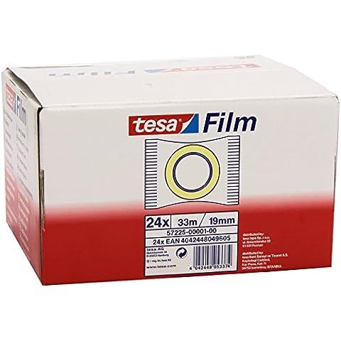 Tesa 57225-00001-00 - Cinta adhesiva estándar, transparente, 24 unidades