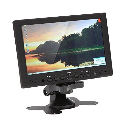"SODIAL(R) 7 ""TFT Farbmonitor LED HD PC / AV HDMI Monitor VGA Eingang Empfaenger mit Kopfhoererbuchse PAL / NTSC Video Displayer fuer ueberwachung Auto Luftaufnahme"