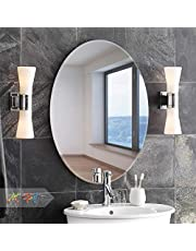 Art Street Oval Mirrors -17 x 23 inch Elliptical Wall Mirror HD Vanity Make Up Mirror Tiles for Wall Décor