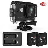 SJCAM SJ4000 wifi Action Camera waterproof FHD1080P Underwater Camera 12MP Sports Video Camcorder 2.0 LCD Screen Display (SJ4000WIFI Black Dual Charger+2 Extra Batteries)…