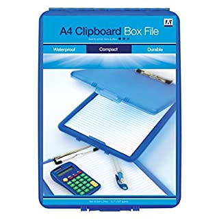 Anker International, Stationery, Clipboard Box File-Assorted Colour (Blue/Pink/Clear)