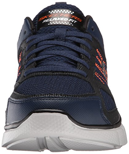 Skechers Equalizer 2.0 On Track, Scarpe da Corsa Uomo Blue (Nvor - Navy Orange)