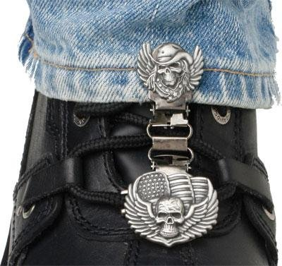Ryder Clips Laced Boots Two Clip Version - Skull/Wings SWL-FC by Ryder Clips