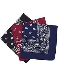 9852f17cd20 PURECITY© Bandana Original Paisley Motif Cachemire Foulard Pur Coton  Qualité Supérieure Vendu par Lot - 55cm x 55 cm - Nouvelle…