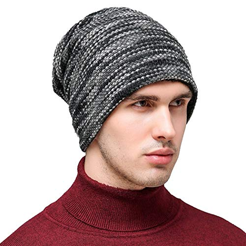 DAMENGXIANG Herbst Winter Stricken Outdoor Warm Cap Männer Freizeitmode Plus Samt Verdick